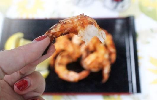 Bite of shrimp