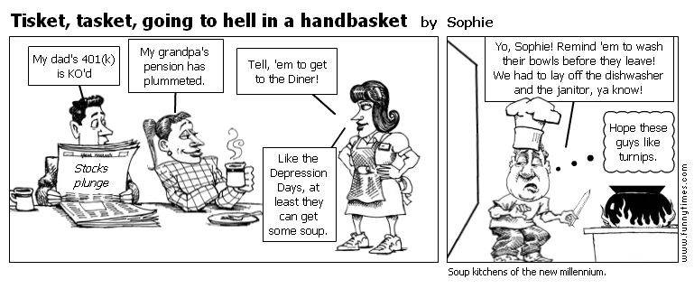 Tisket, tasket, going to hell in a handb by Sophie