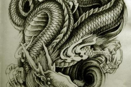 black dragon tattoo