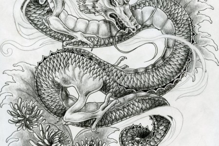 vintage dragon tattoo