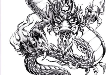 cool dragon tattoo design