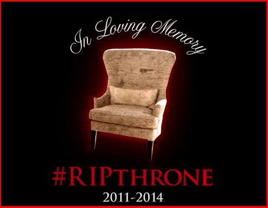 revenge chair, victoria's throne destroyed