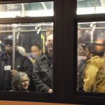Overcrowded buses after Hurricane Sandy shuts down subway system