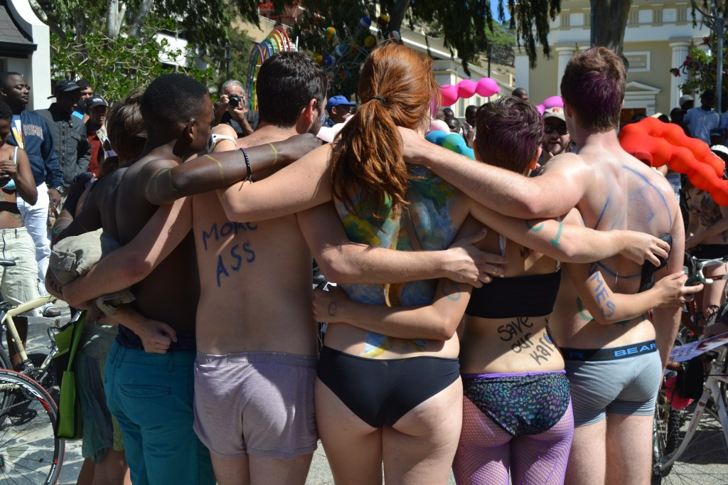 Skin solidarity at the naked bike ride