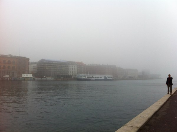 1. Harbour side in the mist. Photo Justine Bell