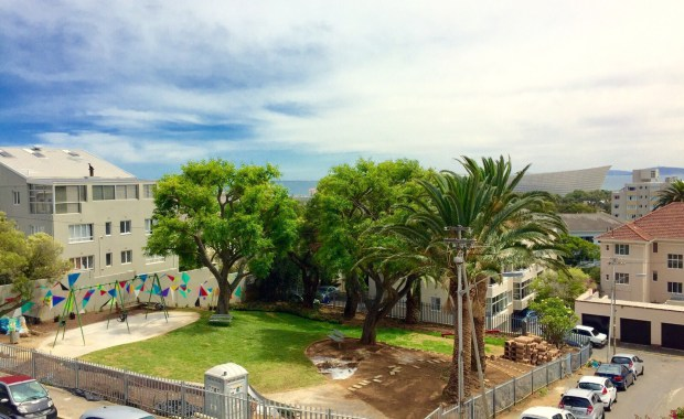 Vibrant green public at Thornhill Park, Green Point.