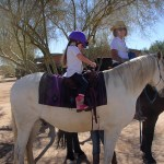 A trail ride with Audrey Everson!