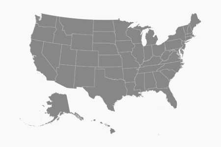 vector map of united states of america with states