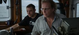 Sig Hansen and Jake Anderson in the wheelhouse of the Northwestern.