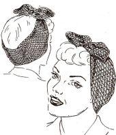 Vintage scarf turban style