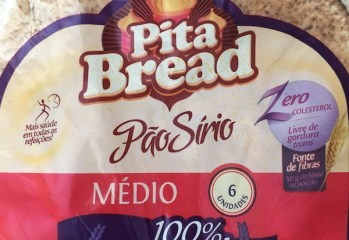 Pão Sírio Médio Integral Pita Bread