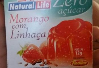 Gelatina de Morango com Linhaça Zero Natural Life