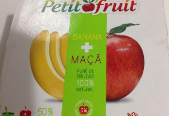 Purê de Frutas Banana + Maçã Petit Fruit