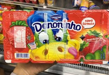 Queijo Petit Suisse Morango Danoninho Danone nova formula