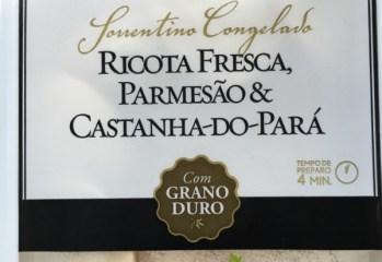 Sorrentino Congelado Ricota Fresca, Parmesão & Castanha-do-Pará Forno de Minas