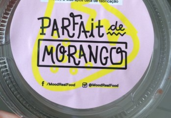 Parfait de Morango Mood Real Food