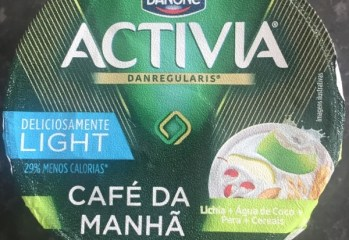 Leite Fermentado Café da Manhã Lichia, Água de Coco, Pera e Cereais Activia Danone
