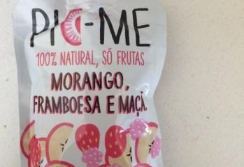 Purê de Frutas Morango, Framboesa e Maçã 100% Natural Pic-Me