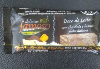 Doce de Leite com Chocolate e Biscoito Palha Italiana Delicias Famoso