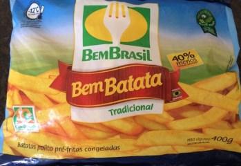 Batatas Palito Pré-fritas Congeladas Tradicional Bem Brasil