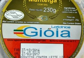 Manteiga com Sal Laticinios Gioia