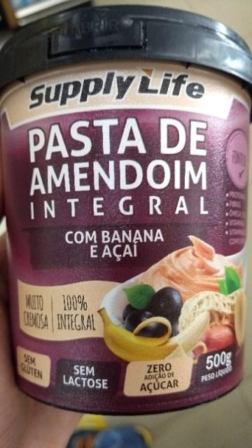 Pasta de Amendoim Integral com Banana e Açaí Supply Life