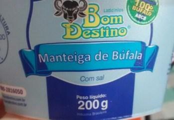 Manteiga de Búfala Com Sal Bom Destino