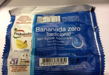 Bananada Zero Tradicional Frutabella