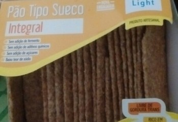 Pão Tipo Sueco Integral Light Via Delícia