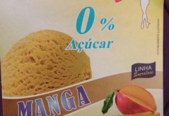 Sorvete sabor Manga Zero Açúcar Tem Nome