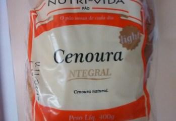 Pão de Cenoura Integral Light Nutri-Vida