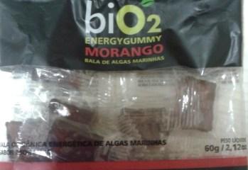 Bala de Algas Marinhas Energy Gummy Morango Orgânica Bio2