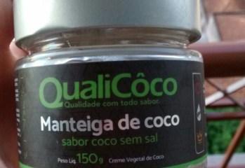 Manteiga de Coco Sabor Coco sem Sal QualiCôco