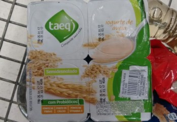 Iogurte Semidesnatado Aveia Taeq