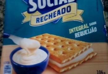Biscoito Integral Recheado Sabor Requeijão Club Social