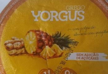 Iogurte Grego Abacaxi com Gengibre Yorgus