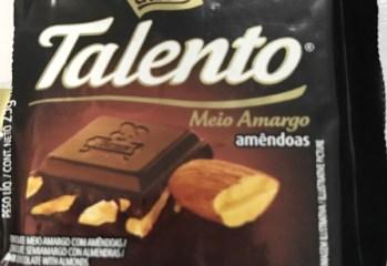 Chocolate Meio Amargo Amêndoas Talento Garoto