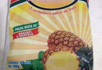 Polpa Mista de Abacaxi com Hortelã Fruta Pluss