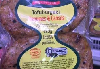 Tofuburguer Legumes & Cereais Com Ingredientes Orgânicos Samurai