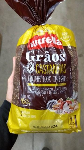 Pão Integral Grãos e Castanhas Nutrella