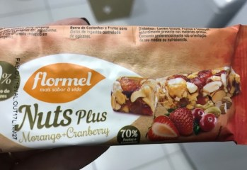 Barra Nuts Plus Morango + Cranberry Flormel