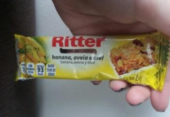 Barra de Cereais com Banana Aveia e Mel Ritter