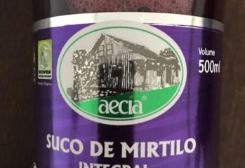 Suco de Mirtilo Integral Organico Aecia