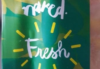 Sorvete Morango, Manga, Raspas de Limão e Água de Coco Fresh Naked