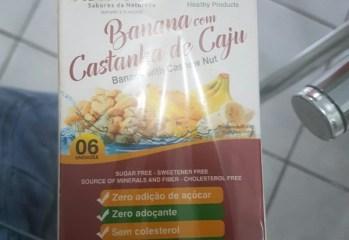 Bananada com Castanha de Caju em Tablete Natura Fruti