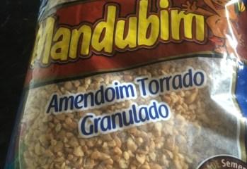 Amendoim Torrado Granulado Mandubim