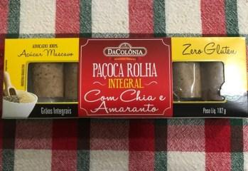 Pacoca Rolha Integral com Chia e Amaranto Da Colonia