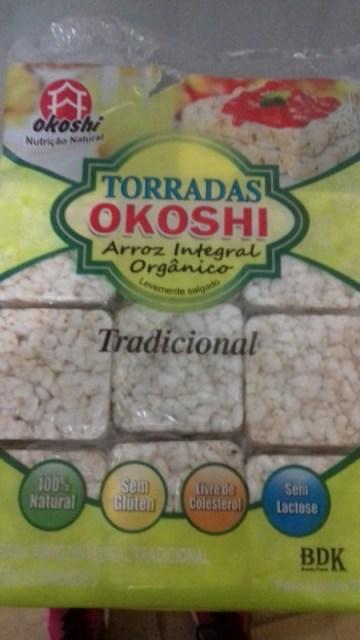 Torradas Arroz Integral Orgânico Tradicional Okoshi