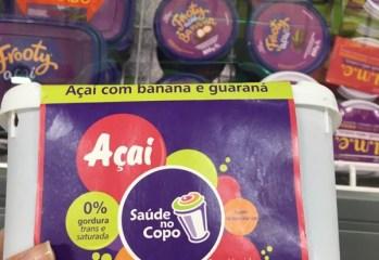 Açaí com Banana e Guaraná Saúde no Copo frente