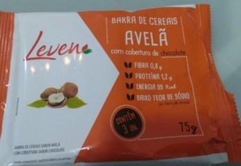 Barra de Cereais Avelã Com Cobetura de Chocolate Leven